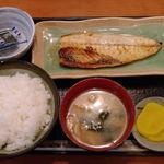 勝ちゃん - サバ塩焼定食