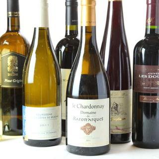 ワインの種類も豊富にご用意しております!!