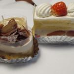 22706515 - 栗ケーキとショートケーキ