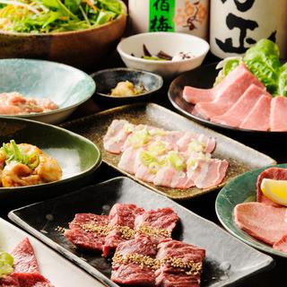 ◆アツアツのもつ鍋&上質焼肉+ロング飲み放題プラン♪♪