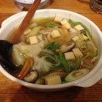 天竜食堂 - せんべい汁 @650円。せんべいが柔らか過ぎ・・・。