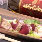 創作話食 藤ノ家 - ★かつをの藁焼き★焼きたてを、わさびとお塩でどうぞ♪