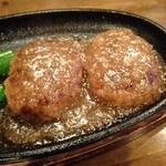 甲子園三代目 あつい飯 - ハンバーグ