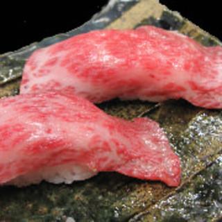 ネタが魚ではなく肉の寿司