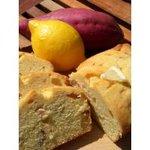 はちどり菓蔵 - 秋の新作 さつま芋のレモン煮のパウンドケーキ