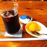 AiAi - レストラン AiAi @佐野・田沼 ランチに付くアイスコーヒーとシャーベット