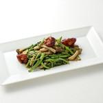 香港茶樓 - 空芯菜の辛子醤油炒め