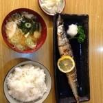 とんかつ 安右衛門 - 秋刀魚の塩焼き定食