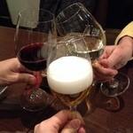 神楽坂 ワイン好きのためのイタリアン オステリアレガーメ - 乾杯!でもビールが少なっっ