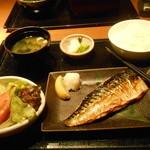 徳樹庵 - 塩鯖の炙り焼き定食¥934