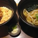 麺匠の心つくし つるとんたん - 海老かき揚げ丼(¥1200)