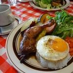 ペペキッチン - 2013年11月 ジャークチキン&ロースト野菜のプレート