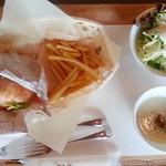 コールズガーデンハルブフラグ - 料理写真:ポテトのベーグルサンドセット