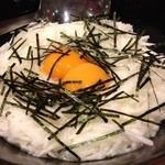 牛もつ鍋専門 やま本 - 山芋&生卵