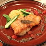 ラ・ムジカ - 北海道産 真鱈のグリエ タブナード (アンチョビとオリーブのソース) (2013/11)