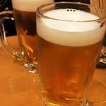 寿司・おでん 瓢六 - ビールで乾杯
