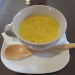 ナミヘイピザ - ランチ前菜 かぼちゃスープ
