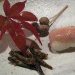 2273078 - ゴリの甘露煮・アマゴ寿司・むかごの塩茹で