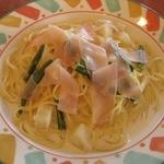 スパゲッテリア アリオ - 生ハムのクリームソーススパゲティ¥480
