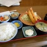 和韓食処はやしや - 特大エビフライ定食¥770