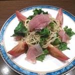 柚 - さっぱりと口当たりの良い柚子の冷製パスタ 780円