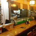 寿司の居酒屋 甚 - お店のカウンターです。