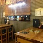寿司の居酒屋 甚 - お店のテーブル席です。