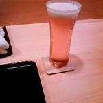 銀座一期 - 薄はりのビールグラス軽い!!