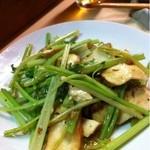 22741966 - 厚揚げと青菜の炒め