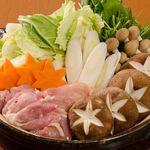 炭火串焼 正軍 - 地鶏の水炊き(自家製ポン酢で)