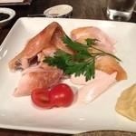 ななたに - ななたにの七谷地鶏のローストチキン1/4羽1800円(13.10)