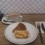 Cafe Soi - ボロネーゼのキッシュ&かぼちゃのタルト&ミルクティー♪