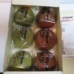 伊豆一の蔵 - 蔵蒸しまんじゅう(和三盆糖&ぐり茶)各3個入り¥1140@'13.4.中旬