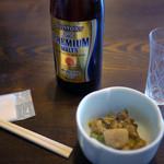 うずら家 - ビール & お通し ~☆