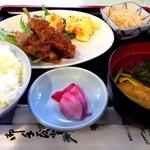 カフェガーデンサラ - この日の日替りランチのごぼうの豚肉巻きランチ@700円です