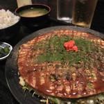 童心舎 - 料理写真:鉄輪焼きモダン定食(そば)
