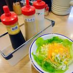 ペッパーランチ - サラダとドレッシング