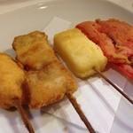 どんがらがっしゃん - 131127 鮭・豚バラ・チーズ・紅生姜