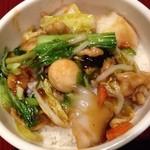 XI'AN - 2013/11 セットの中華丼。味が濃いめで意外とおいしかったです。