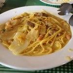 22752605 - 白菜、鶏肉、お豆さんのスパゲッティー二