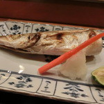 まつ井 - カマスの焼き物・・・やはり、プロが焼くと魚にふんわり感が出ます・・・