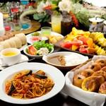 スクエア - ディナービュッフェは2200円~。結婚式の二次会や各種ご宴会にも人気です。