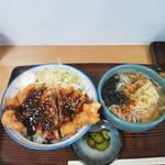 江戸家 - 半ソースかつ丼+半蕎麦セット500円