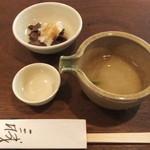 22763052 - 2013/8/22 日本酒、大根おろしとアミタケ