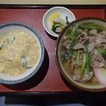 ふじや - 肉うどん+ミニ玉丼(850円)