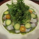 うさぎ - 料理写真:たこのカルパッチョ ジェノベーゼ風 700円