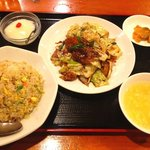 星宿飯店 - 回鍋肉+チャーハンセット650円