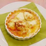 Shirogane-Table - 絹豆腐をふっくらと揚げ、トマトソースとチーズで焼き上げた『揚げ豆腐のたっぷりチーズグラタン』750yen
