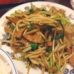 味仙 - ランチ。レバニラ定食。