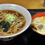 名代 富士そば - 間違えて写したミニヒレかつ丼セット